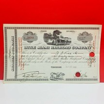Railroad train company stock bond ephemera certificate 1933 Little Miami... - $28.89