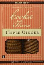 Trader Joe's Cookie Thins Triple Ginger 9 oz  - $11.95