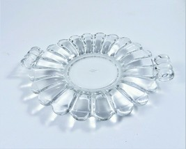 Vintage Heisey Signed Crystolite Dish Bon Bon Candies Clear Glass USA Handles - $23.96