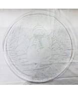 """Noël Verre Transparent Plateau 12.5 """" Bonhomme de Neige Neige Arbre - $13.43"""