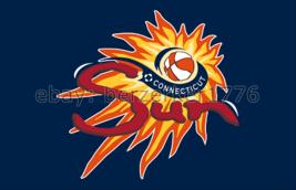 Connecticut Sun WNBA 3'x5' blue Flag Alex Bentley Chiney Ogwumike USA se... - $25.00