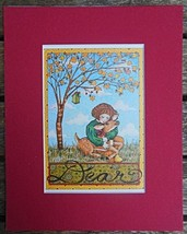 "Mary Engelbreit Print Matted 8 x 10 ""Dear""  Autumn Deer - $16.40"