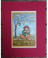 """Mary Engelbreit Print Matted 8 x 10 """"Dear""""  Autumn Deer - $16.40"""