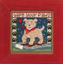 Puppy Paws 2013 Spring Series beaded button kit Mill Hill - $11.70