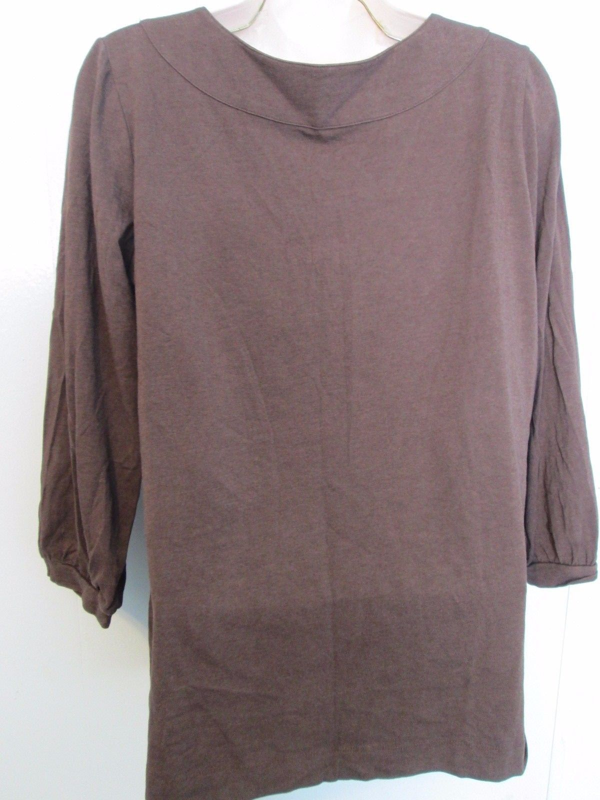 Women's brown 3/4 sleeve top Size L by A.N.A.  MGRA038