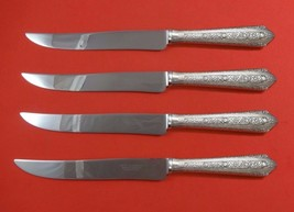 Normandie by Wallace Sterling Silver Steak Knife Set 4pc Texas Sized Custom - $274.55
