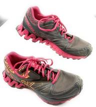 Reebok ZigTech Gray Orange Pink Running Cross Fit Athletic Shoes Women's... - $34.16