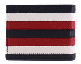 Tommy Hilfiger Men's Leather Wallet Passcase Billfold RFID Navy Red 31TL220104 image 5