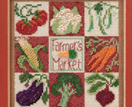 Farmers Market 2013 Spring Series beaded button kit Mill Hill image 2