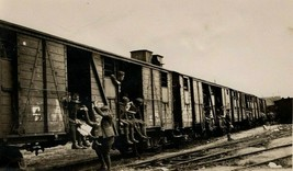 Vintage WWI Photograph Departing Troop Train Supplied with Magazines - $16.95