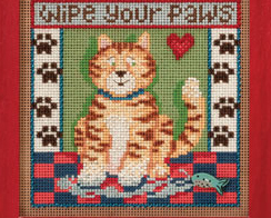 Kitty Paws 2013 Spring Series beaded button kit Mill Hill image 2
