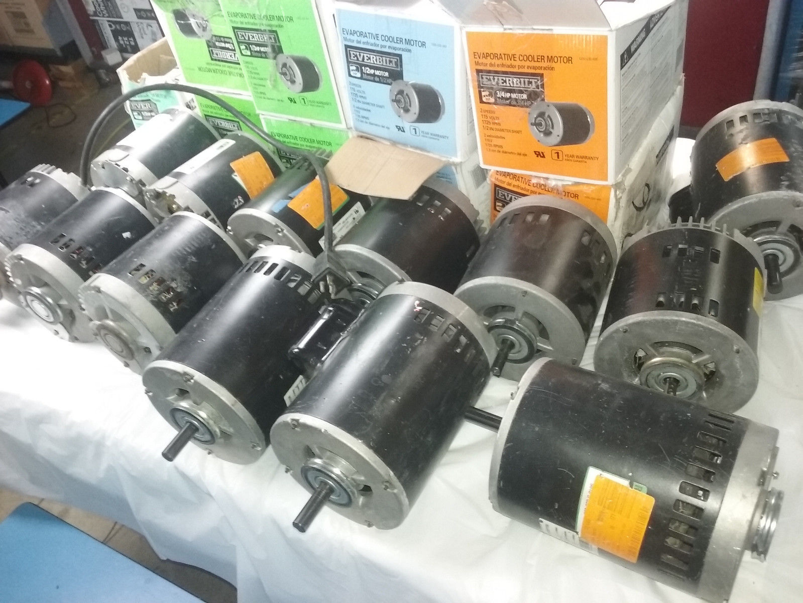 Everbilt 2 Speed Motor Lot Of 22 A250, A370, A550, A750 Untested Parts Only image 3