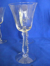Fostoria Silver Flute Stemware Claret Wine Glass Optical Glass Mint Condition - $15.00