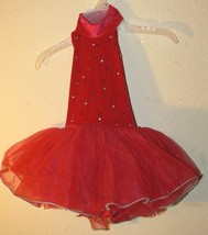 Design For Dance Red Halter Tutu Costume - Size Small Child - $17.50