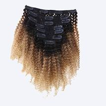 Caliee Afro Kinky Curly Clip in Hair Extension Human Hair Double Weft Unprocesse image 4