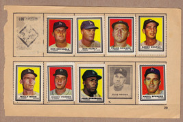 LOT OF 8: 1962 Topps stamps LA Dodgers on album page Sandy Koufax Don Drysdale - $29.95