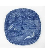 Julen Rorstrand Sweden 1978 Blue Christmas Collectors Plate Limited Edition - $15.00