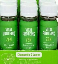 Vital Proteins Zen Collagen Shot Chamomile & Lemon  2 oz ( Pack of 6 ) - $24.74