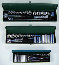 60pc Professional SAE SOCKET SET 1/4 3/8 and 1/2 dr New - $92.87 CAD