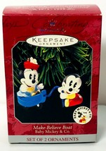 Hallmark Keepsake Ornament Make-Believe Boat Baby Mickey & Co Minnie Disney - $9.99