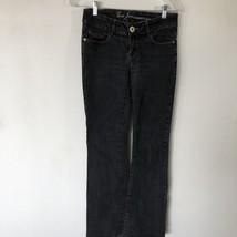 Guess Jean Belmont Flare Woman's Black Stretch Jeans Size 27 X31 Stretch - $16.70