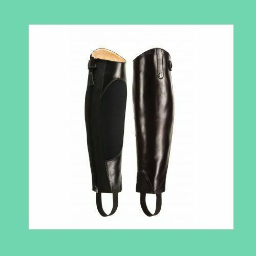 Justin Half Chaps Chocolate Brown size Extra Short Extra Slim