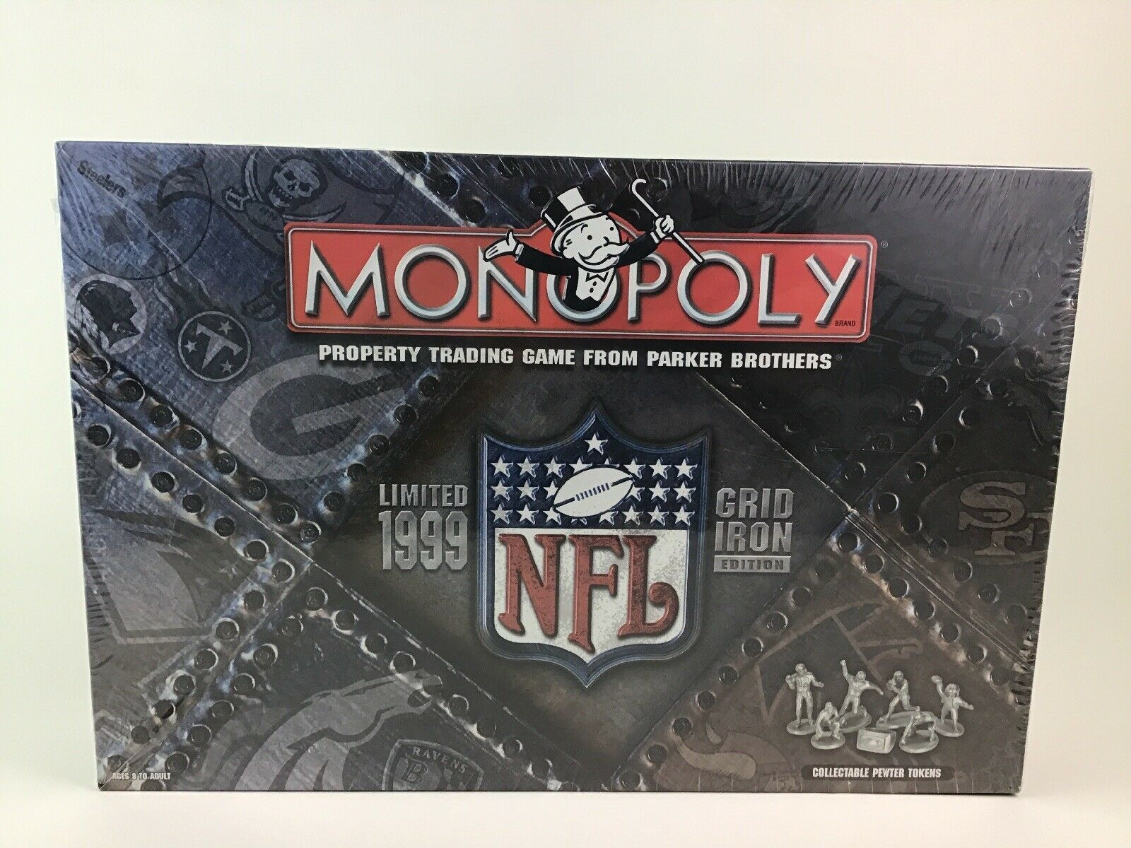 Primary image for Monopoly Limited 1999 NFL Grid Iron Edition Football Board Game Vintage