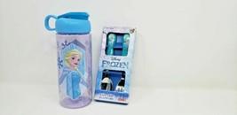 Disney Frozen Elsa Bundle Utensils & Cup Lot Set Baby Blue Kids Brand New - $10.39