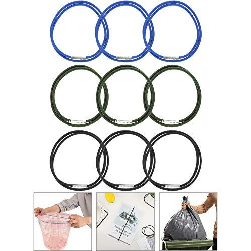 9 Pieces Trash Can Bands Elastic Rubber Bands Trash Can