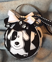 Quilted Black and White Puppy Dog Themed Christ... - $26.00
