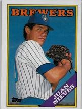 1988 Topps Baseball Card, #515, Juan Nieves, Milwaukee Brewers - $0.99