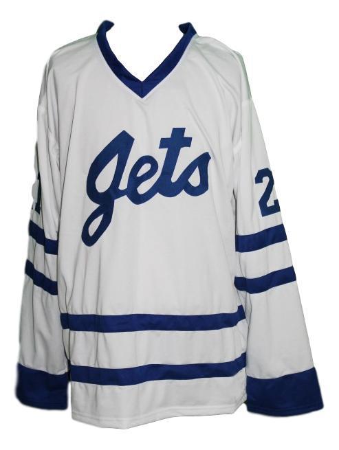 Carlson  21 johnstown jets new men retro hockey jersey white   1