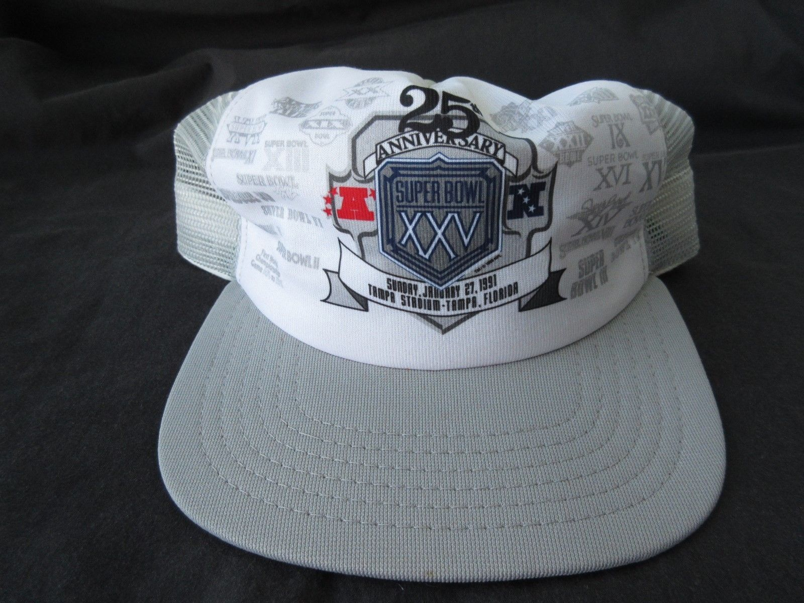 dec961e6 Vintage 1991 Super Bowl XXV 25 Trucker Hat and 13 similar items. 57