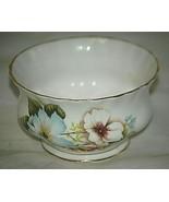 Royal Albert Bone China Mini Open Sugar Bowl White & Blue Dogwood Flower... - $21.77
