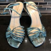 Kate Spade aqua mermaid sparkly scale look heels - $81.18