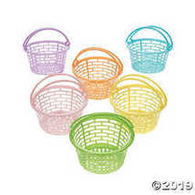 Pastel Round Easter Baskets - $8.36