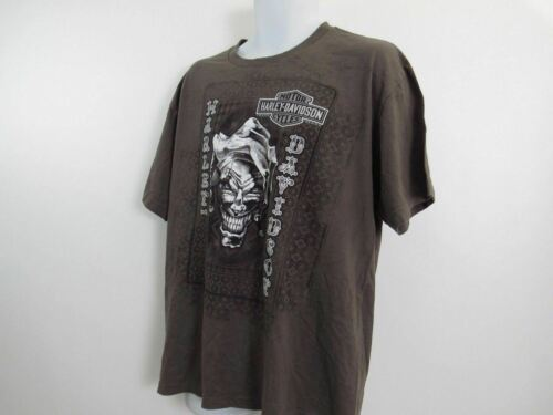 Harley Davidson T Shirt Mens Extra Large XL Brown Fond Du Lac Wisconsin image 3
