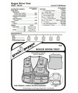 Adults' Rogue River Fishing Vest #502 Sewing Pattern (Pattern Only) gp502 - $6.00