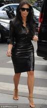 Women Celeb Style Haute Couture Premium Cocktail Party Women Leather Dre... - $185.00