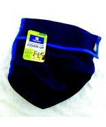 Top Paw Male Dog Cover Up Wrap Diaper Belly Band Large Navy Blue Washable - $10.99