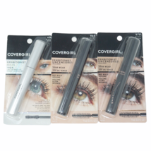 3X Covergirl Exhibitionist Uncensored Mascara Black and Black Brown  - $10.24