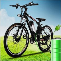 36V Ancheer ELECTRIC MOUNTAIN BIKE 25 inch 21 Speed Aluminum Alloy LED H... - $612.79