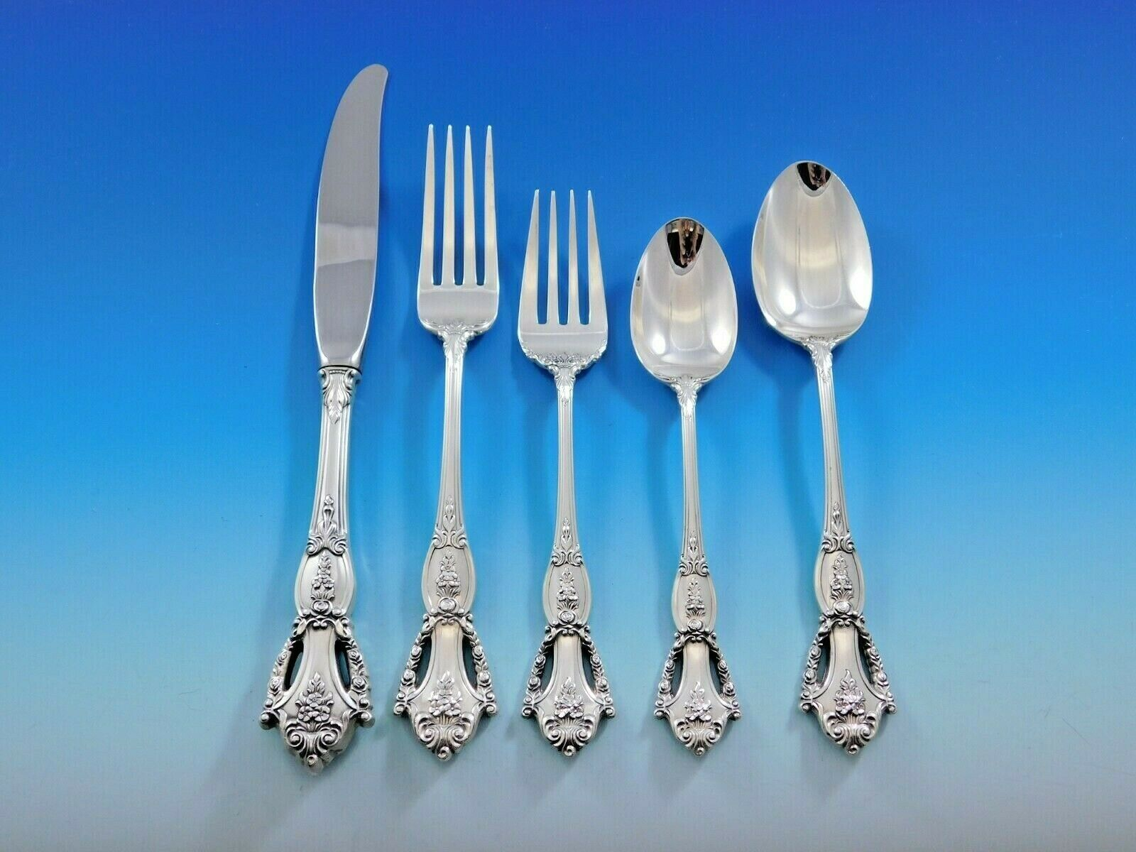 Primary image for Beauvoir by Tuttle Sterling Silver Flatware Set for 12 Service 60 Pieces w/soups