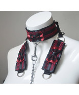 Made to Order - Kitten play collar leash and cuffs set - Classy demon - ... - $72.00