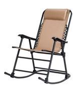 Costway Folding Zero Gravity Rocking Chair Rocker Porch Outdoor Patio He... - £129.92 GBP