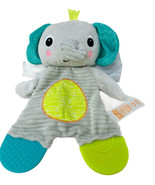 "Bright Starts Snuggle & Teethe Plush Grey Elephant Teether Baby Toy 9"" L... - $8.00"