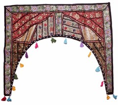 Home Decorative Patchwork Embroidered Window Valence Door Hanging Toran AIDH911 - $27.99