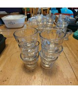 Set of 6 Vintage Clear Glass Butter Ramakins - $18.66