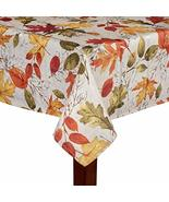 Autumnal Breeze Shimmer Fall Red & Yellow Leaves Damask Printed Fabric T... - $25.97