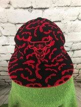 Adidas Chicago Bulls Mens Sz 7 1/8 Hat Red Black 100% Wool Fitted Baseba... - $24.74